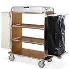 Vagn med 4 våningar, box, 1 linne väska och Avfallspåse med hållare